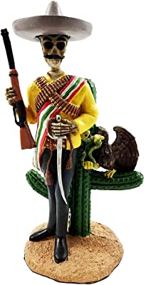 Gifts & Decor Day of The Dead Skeleton Emiliano Zapata Salazar Mexican Revolutionist Figurine