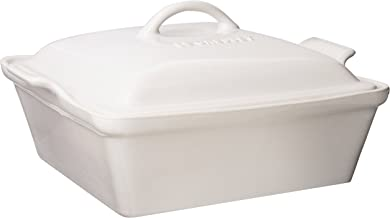 Le Creuset Unisex 2.5 Qt. Heritage Covered Square Casserole White
