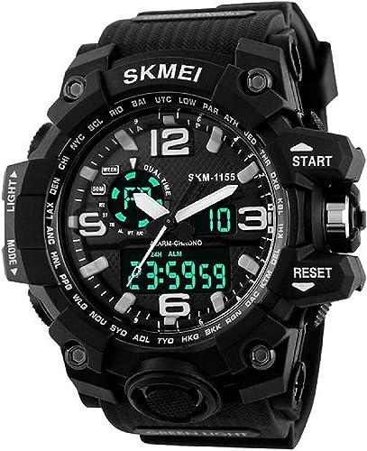 SKMEI Analog Digital Quartz Men S Watch With Silicone Strap AD1155