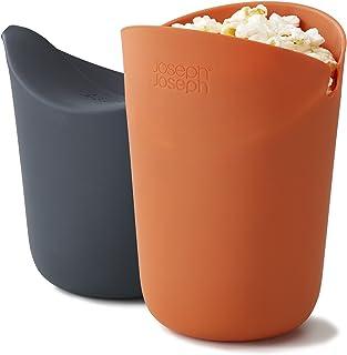 Joseph Joseph 45018 M-Cuisine Microwave Popcorn Popper Maker Single Serve Portion Silicone Food Safe, 2-piece, Multicolored