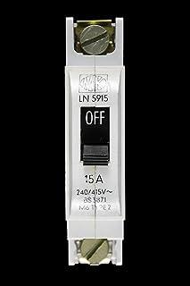 RCD 30mA Main Switch MK Sentry MCB LN 30A 15A 5A Type 2 M6 BS3871