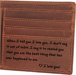 Mens Wallet - Leather Wallet, The Perfect Mens Gift, Boyfriend Gift, Father's Day Gift, Anniversary Gifts for Men