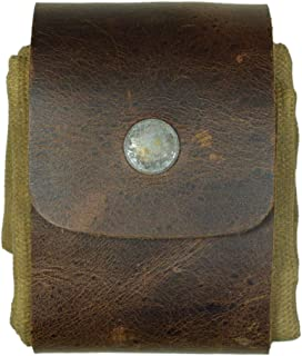 Waxed Canvas Foraging Pouch (Collapsible) for Hiking Treasures/Seashells Handmade by Hide & Drink :: Fatigue