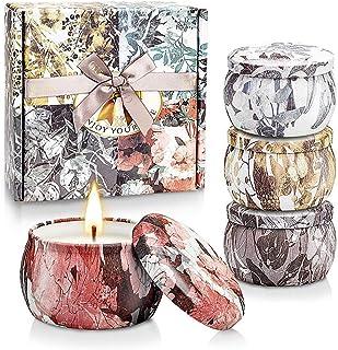 Yinuo Mirror Candele Profumate Set, Regalo da Aromaterapia per Donna/Mamma/Moglie, Cera di Soia Naturale, Candele Profumat...