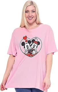 Plus Size Women's T-Shirt Minnie Mouse & Mickey - Choose Print