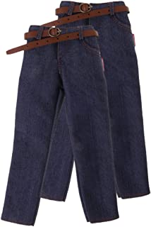2X 1/6 Scale Male Classic Denim Jeans Pants for 12'' Hot Toys Action Figure Body Clothing Accessories