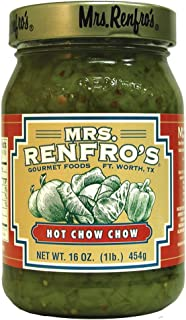 Mrs. Renfro's Hot Chow Chow, Gluten Free, No Added Sugar, 16 oz Jar, Pack of 4