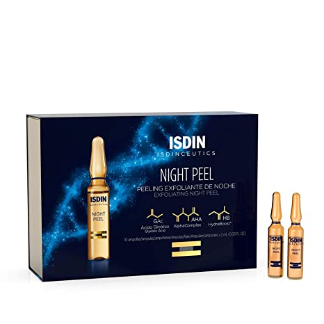 ISDIN Night Peel AHA and Glycolic Acid Night Serum(30 ampoules)