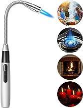 Butane Lighter Jet Flame Torch Lighter Long Flexible Windproof Lighter for Camping Grill..