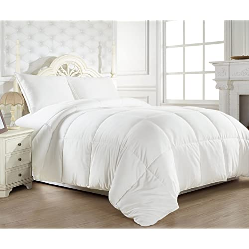 HUESLAND by Ahmedabad Cotton Ultra-Plush Microfibre Double Comforter, White