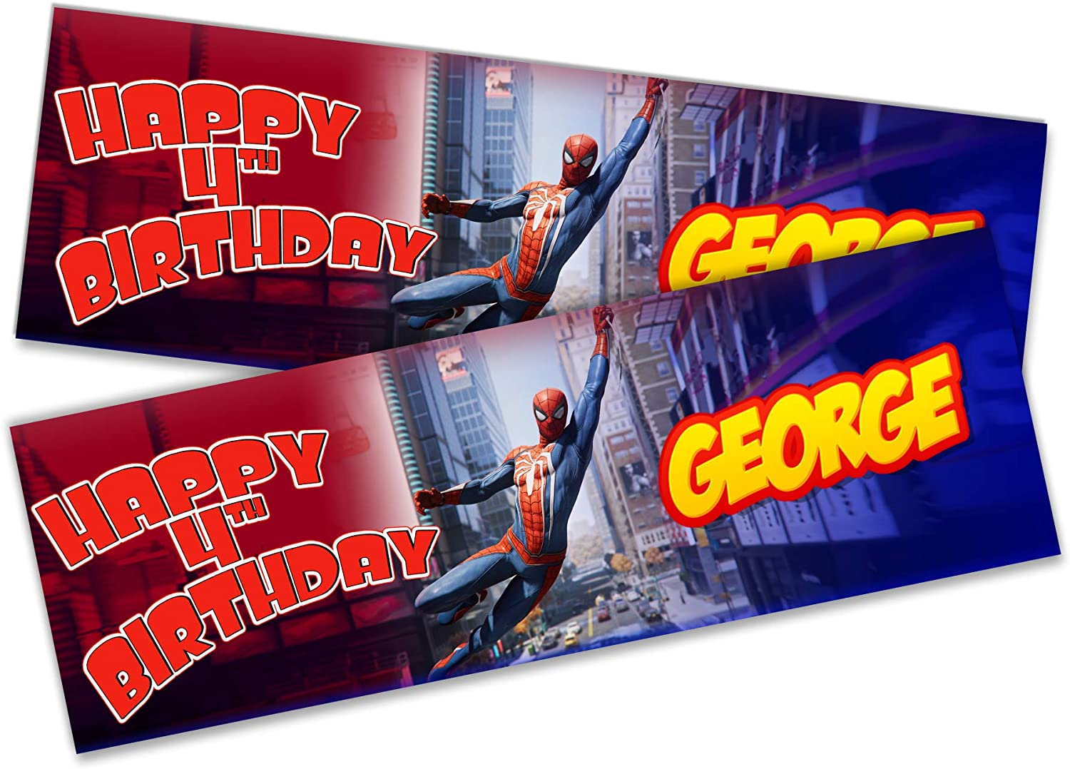 Details about  /x2 Personalised Birthday Banner Balloon Children Kids Party Decoration Poster
