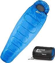 300GSM Sac de couchage momie pour camping, randonnée et en extérieur professionnel. 3-4 saison. capuche avec cordon de serrage et collier