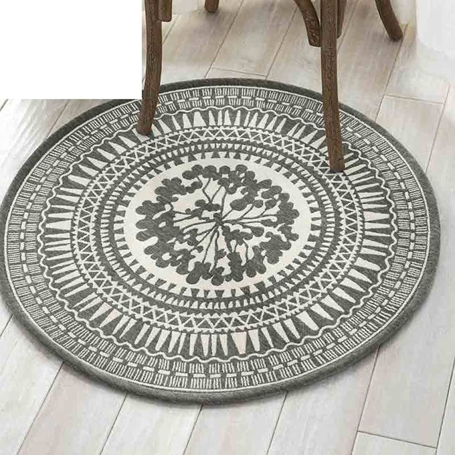 Area Rugs Small Round Rugs Small Rugs with Rubber Backing Living Room Rugs -B diameter80cm(31inch)