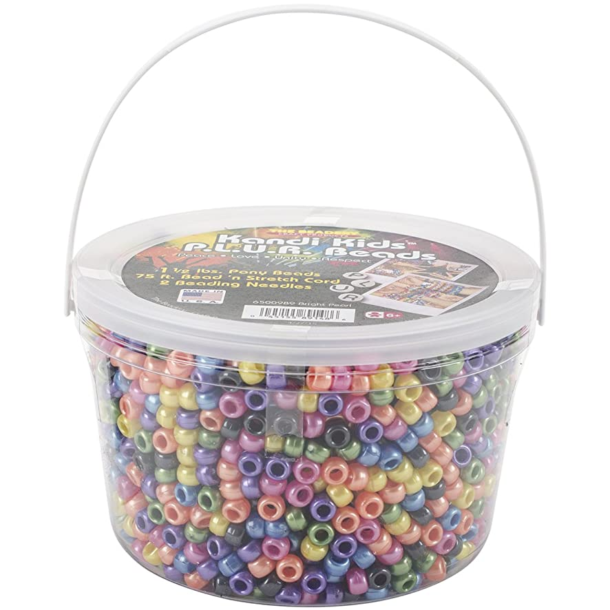 The Beadery 6500989 Ultra Kandi Rave Bead Bucket, Bright Pearl Multicolor