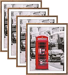 Schliersee 8x10 Picture Frame 4 Pack Photo Frames Set with Glass Front for Wall Mounting or Tabletop Display