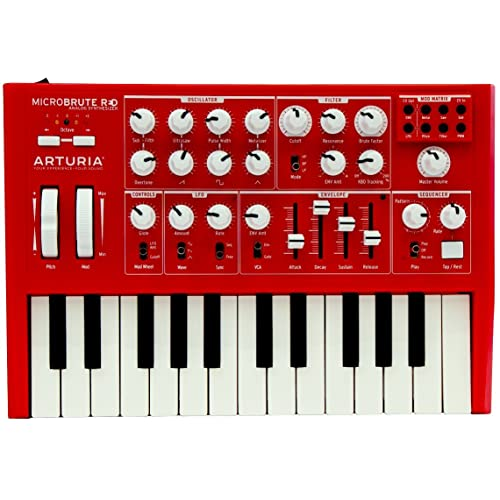 """Arturia MicroBrute SE Analog Synthesizer RED + Analog Lab 2 software """"Free Upgrade"""" to"""
