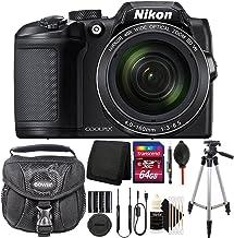 Nikon Coolpix B50016MP Wi-Fi integrado Kit de accesorios de cámara de fotos digital, color negro con 64GB