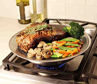 Grill It, The Original Stove Top Grill, Smokeless Stovetop Indoor BBQ Stainless Steel with Double Coated Non Stick Grilling Surface