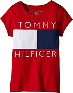 Tommy Hilfiger Kids - Pieced Flag Tee (Big Kids)
