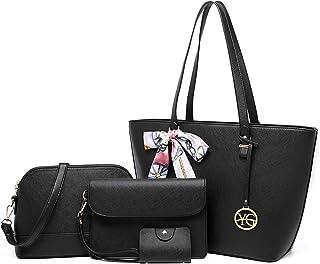 YeumouG Bolsos Mujer Bolsos Mujer Bandolera Bolsos Mujer Grande Cuero PU Bolso Señoras Shopper Totes para Escuela Compras ...