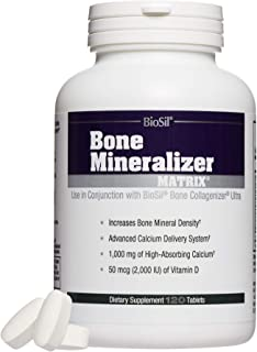 BioSil by Natural Factors, Bone Mineralizer Matrix, Supports Bone Mineral Density and Calcium Absorption, Dietary Suppleme...