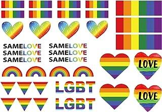 Gay Pride LGBT Rainbow Temporary Tattoos By ASVP Shop