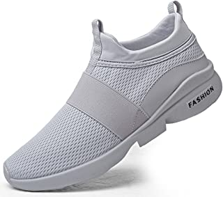 TSIODFO Men's Trail Running Shoes mesh Breathable Lightweight Comfort Walking Sneakers Youth Big Boys Tennis Shoes White red Black Black Size: 10 US