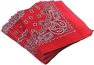 Bandana Foulard voile chiffon 100/% coton Paisley Pink 1-100 pièces