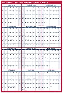 "$28 » AT-A-GLANCE 2019-2020 Academic Year Wall Calendar, Jumbo, 32"" x 48"", Erasable, Dry Erase, Reversible, Vertical/Horizontal ..."