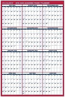 "$28 » AT-A-GLANCE 2019-2020 Academic Year Wall Calendar, Jumbo, 32"" x 48"", Erasable, Dry Erase, Reversible, Vertical/Horizontal ..."