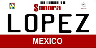 Mexico Sonora Photo License Plate Free Personalization on this plate
