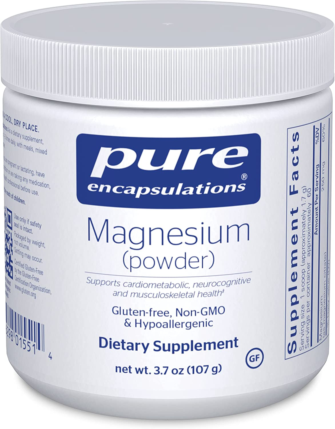 Pure Encapsulations - Magnesium Today's only Cardiovascul Supports Powder Charlotte Mall