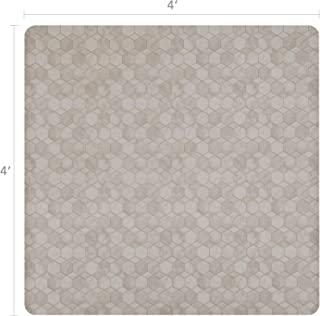 Vinyl Floor Mat, Durable, Soft and Easy to Clean, Ideal for Highchair Floor Mat, Mudroom Mat or Play Mat. Freestyle, Shell Oceana Pattern (4 ft x 4 ft)