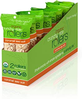 Crunchy Rice Rollers - Organic Snacks - Gluten Free - Allergy Friendly - Caramel Sea Salt (8 Packs of 2 Rollers)