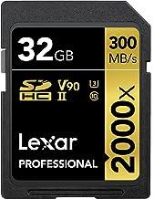 Lexar Professional 2000x 32GB SDHC UHS-II Card (LSD32GCBNA2000R)