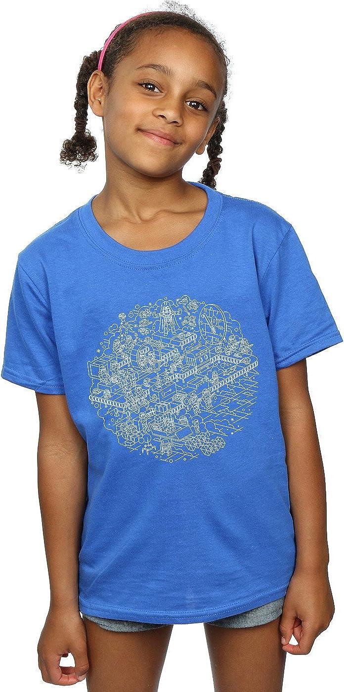 STAR WARS Girls Christmas Death Star T-Shirt 9-11 Years Royal Blue