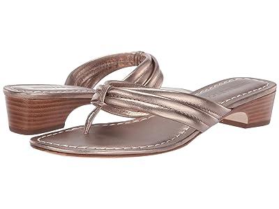 Bernardo Miami Demi Heel Sandals (Platinum Antique Calf) Women
