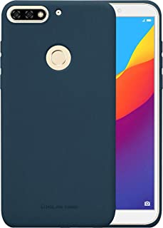 Huawei Honor 7C Molan Cano Flexible Matte Silicone Soft Back Case - Navy