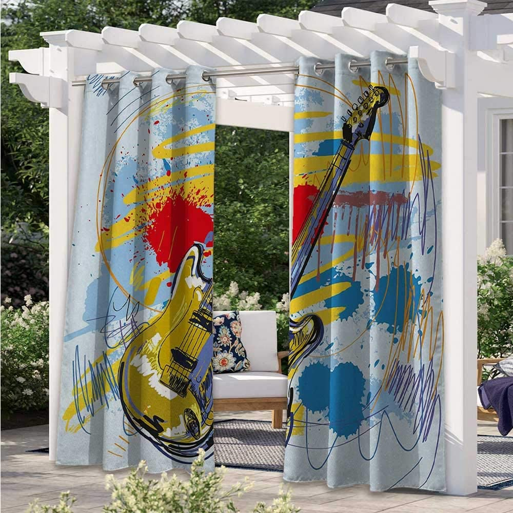 Print Curtains Abstract Musical Expressionist Excellent Artwork Instrument Limited time trial price