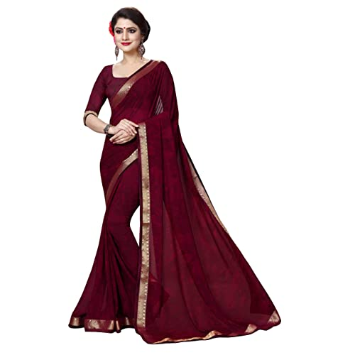d2fea309fc067 Maroon Saree: Buy Maroon Saree Online at Best Prices in India ...