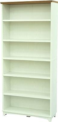 エイ・アイ・エス (AIS) 書棚 ホワイト 80x29.9x173.2cm シャルロット GTCL-09