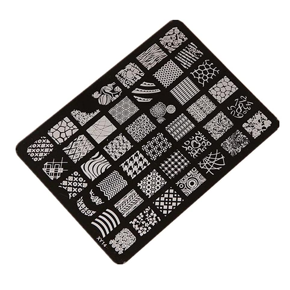 飢えミケランジェロ説得CUHAWUDBA ネイルスタンピングプリンターマニキュアプレート ネイルデコレーションアートスタンプイメージプレート XY14