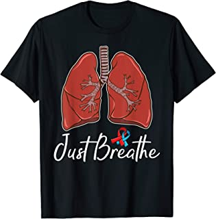 Pulmonary Fibrosis TShirt Gift: Just Breathe