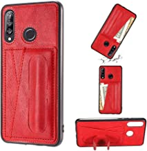 For Huawei Nova 4e Shockproof PC + PU Protective Case with Spring Holder & Card Slot Phone case Fashionable-suitable for gifts (Color : Red)
