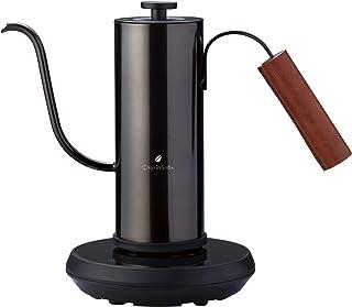 アピックス 温調電気カフェケトル AKE-290 ブラック   温度調節&保温機能が付いた温調電気カフェケトル