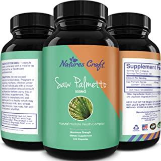 Natures Craft's Saw Palmetto Extract Berry Hair Loss Supplement for Hair Growth for Women and Men, Potent Prostate Support...