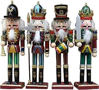 GerFogoo Lot de 6 marionnettes en bois avec motif casse-noisette et noyer