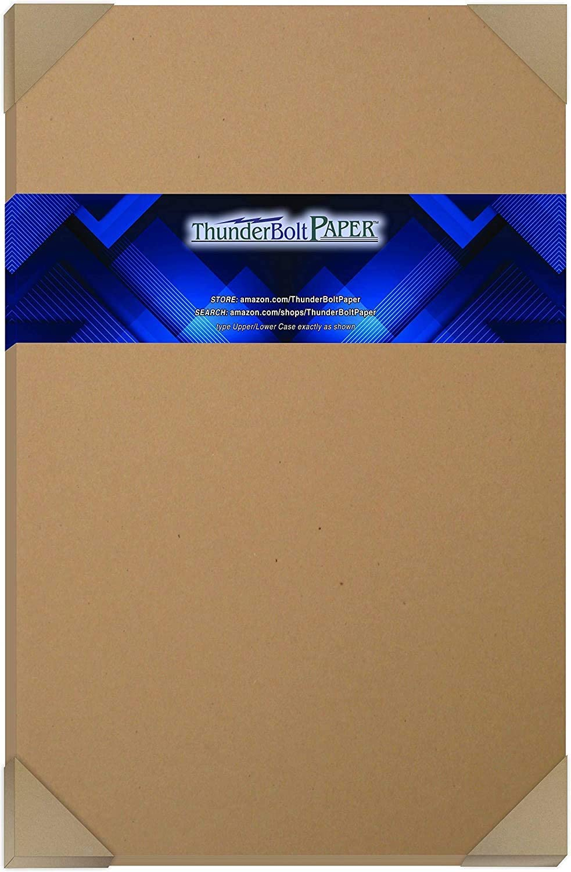 100 Brown Kraft Fiber 80# Cover Bargain sale Max 53% OFF Paper X 17
