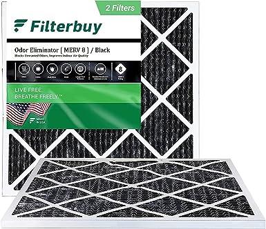 FilterBuy MERV 8 Allergen Odor Eliminator Filters