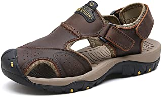 Sport Sandals Men Genuine Leather Soft Rubber Sole Summer Slippers Outdoor Sneakers Plus Size
